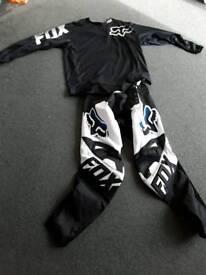 Fox motocross top and bottoms