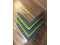 Ikea mamut shelfs 2 x green 3x blue £10