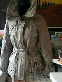 Glittery gold beige winter jacket New Look size 10