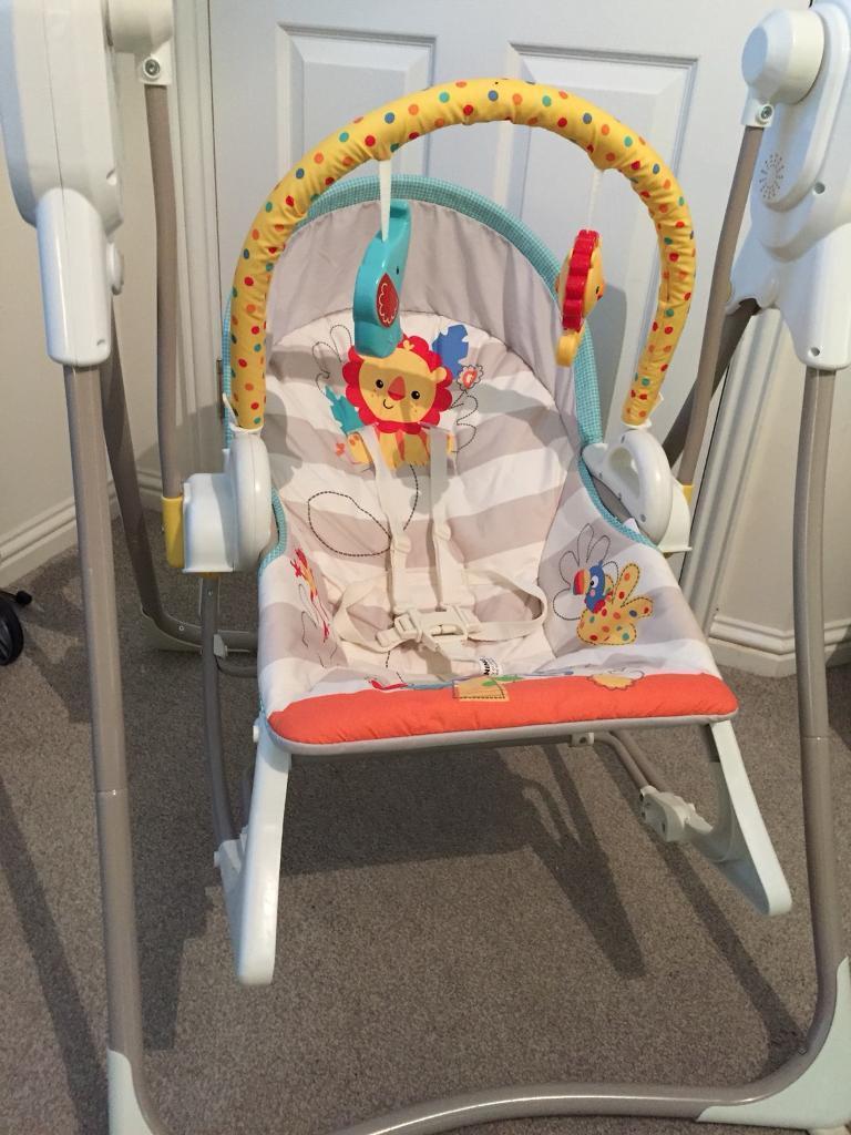 Fisher Price Rainforest 3-in-1 Swing 'n Rocker Chair