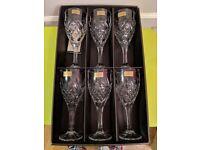 6 Wine Glasses - Killarney Crystal