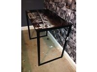 New York glass top table/desk