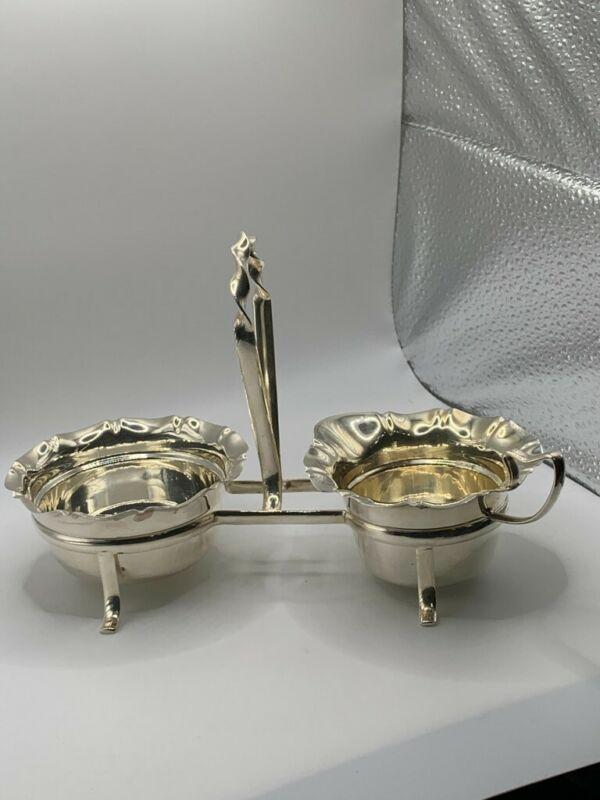 silverplate sugar & creamer in stand (IFS Ltd.) England
