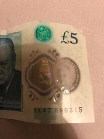 5 pound note AK 47