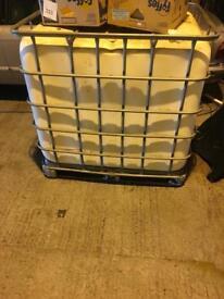 1000litre IBC water storage