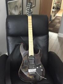 ESP E-II ST-2 Flamed Maple Floyd Rose in see thru black electric guitar
