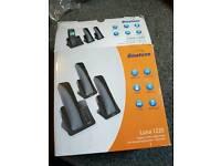 Binatone luna 1220 digital cordless telephone with answering machine tripe pack