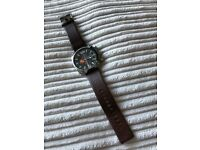 Mens Diesel 10 Bar Chronograph Watch with Leather Strap