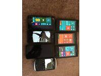 7 x Phones cracked screen - Nokia , ZTE, Blackberry