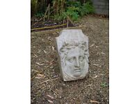 Cast garden ornament - face of classical women