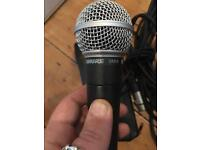 Shure SM58 mic with carry case and cable