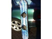 BLUE SNOWBOARD IN GOOD CONDITION