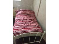 SINGLE BED AND MATRESS CAN DELIVER , EXCELLENT CONDITION