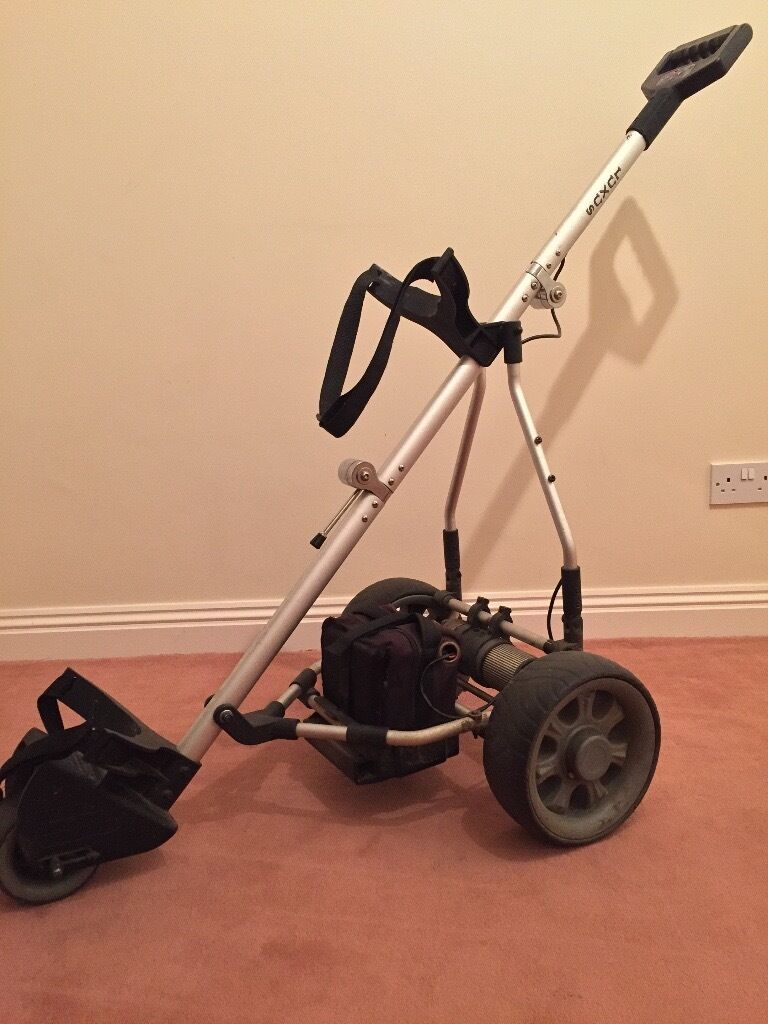LUXUS ELECTRIC/ BATTERY GOLF TROLLEYin Poole, DorsetGumtree - Luxus Electric/ battery operated golf trolley. Variable speed, on/ off switch, Battery life display. Can be sent on timed distances of 10, 20, 30 seconds. Sets up and folds down in two very simple steps, and folds down very compact. Reliable, sturdy...