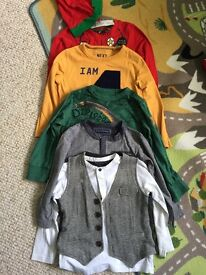 Bundle of boys long sleeved t-shirts age 3-4 Mainly Next