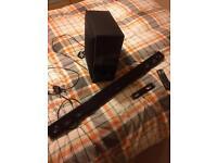 LG soundbar with wireless sub