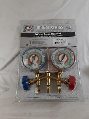 New Jb Industries 2-valve Brass Manifold M2-22425
