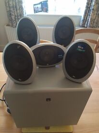 Kef KHT 1005 Eggs Home Theatre Surround Sound Speakers and Subwoofer