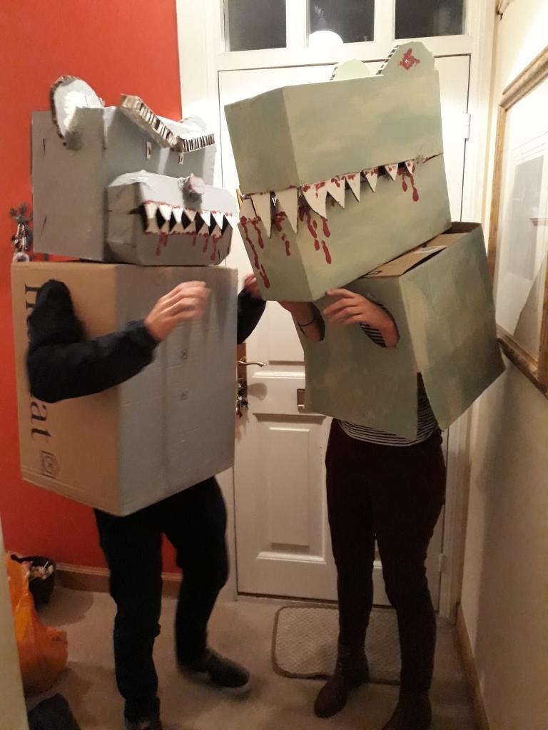 free halloween costumes t-rex and bear   in leith, edinburgh   gumtree