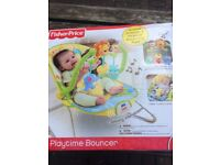 Fisher price playtime bouncer. Excellent condition (boxed).