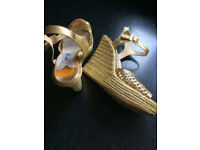 Jimmy Choo Gold Sandals ......Condition : Used
