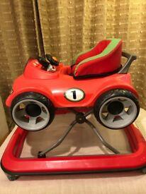 JANE - Baby Walker - Red Sports Car
