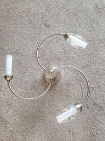 Stainless Steel Ceiling Light - 3x 40w bulbs