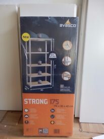 Heavy duty Avasco shelving unit with 5 shelves - NEW -