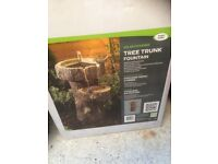 Solar Power Tree Trunk Fountain - New