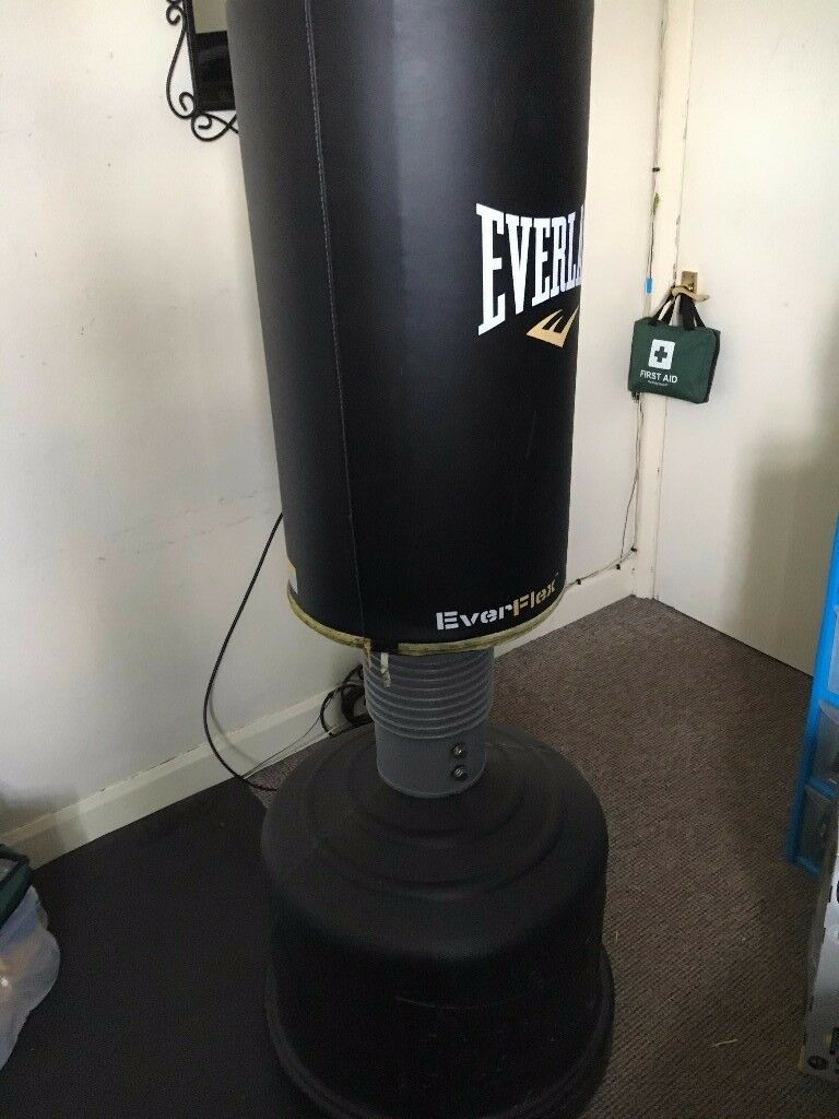 Everlast Everflex freestanding punch bag with gloves