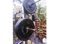 Weights set big selection plates 20 kg, 25 kg