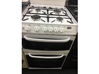 CANNON 55CM WIDE ALL GAS COOKER IN WHITE WITH LID
