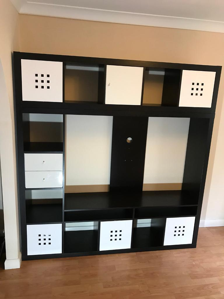 Ikea Lappland Tv Storage Unit With Draws Boxes In Kingswinford