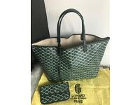 Goyard classic chevron St. Louis GM green bag