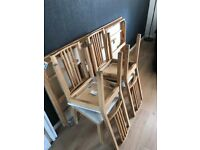6 seater table and chairs with extandable table