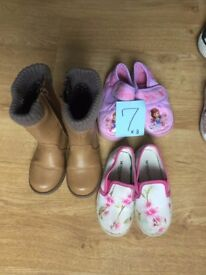 size 7 girl's shoes and boots