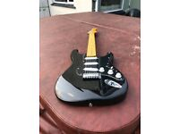 New Vintage Looking Stratocaster Guitar In black. Right Handed.