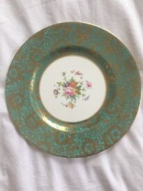 Gorgeous MINTON 'Brocade' Turquoise and Gold Decorative Plate- Collectible Vintage Fine China
