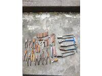 Not snap on joblot of mechanic garage tools Allen keys plug sockets linesman pliers