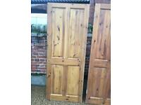 Solid pine 4 panelled doors