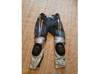 Hein Gericke Leather Motorbike Trousers, size 50