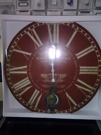 Large wall clocks with pendulum
