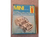 Mini Haynes manual - used condition