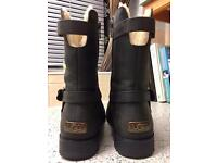 Genuine Uggs, Brown Leather, 6.5 ( 6 ) Sale or Swaps