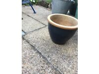 Selection of Garden Pots . No chips or cracks. 3 x 15 inch terracotta.