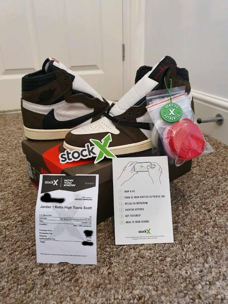 f681f6c8 Travis Scott X Nike Air Jordan 1 High OG 'Cactus Jack' | in Newcastle ...