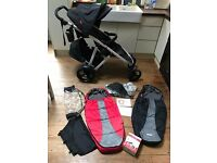 Phil and Teds Verve V2 + lots of accessories + Bugaboo nappy bag bundle