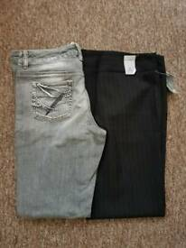 Size 10 Ladies Jeans and trousers