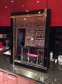 Black edged mirror