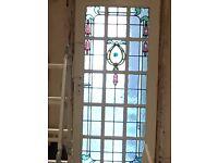 15 Panel stained glass door
